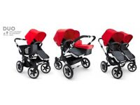 Bugaboo Donkey Duo Immaculate Condition in Red and Black
