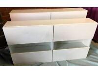 White high gloss storage unit