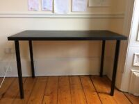 Black wooden top desk/table for sale