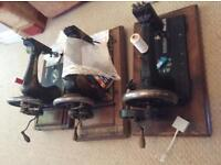 """Collection of vintage """"workings """" sewing machines handling."""
