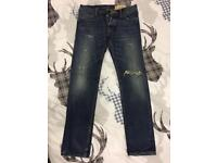 Hollister Jeans. Palm Canyon Low Rise Skinny. Wast 32. Leg 34