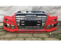 2013 Onwards Audi A3 S Line Front Bumper With Grill Genuine