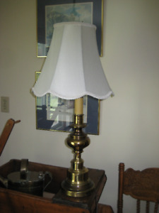 2 Brass Lamps with Shades