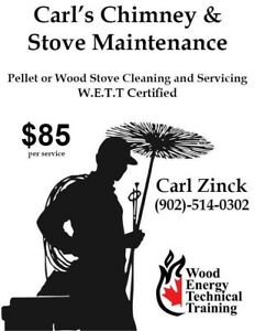 Pellet or wood stove cleaning & servicing