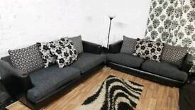 New black/Grey 4+3 seater sofas**Free Delivery**