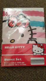 Hello Kitty Single Bedding (New)