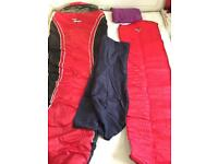 Sleeping Bag, Liner, Inflatable Camping Mat And Travel Pillow