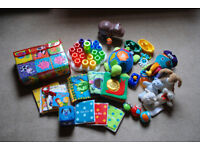 Assortment of toys suitable from birth and up
