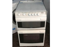 Y505 white cannon 55cm double oven gas cooker comes with warranty can be delivered or collected