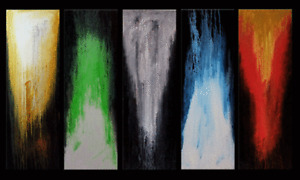 Elemental - Abstract Painting for sale on five canvases