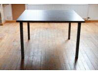 Four foot Square Grey DINING TABLE - really good design - very smart