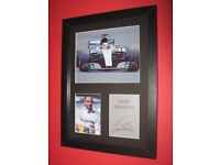 lewis hamilton a4 mounted and framed picture F1