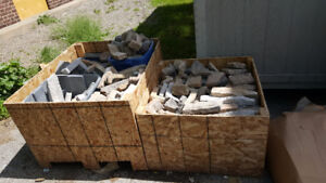 reduced---ORNATE STONE CORNER and STRIAGHTS - LOTS AND LOTS