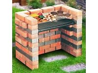 Self Build Built In Brick DIY BBQ Kit Barbecue Grill & Charcoal Tray DIY Cooking