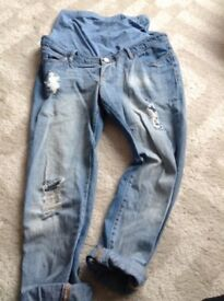 Size 12 Asos, over bump maternity jeans
