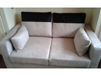 Two Seater Suedette Sofa Bed