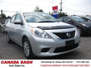 2012 Nissan Versa, PWR GROUP, 12 M. WRTY+SAFETY ONLY $6990