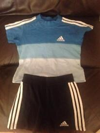 Adidas baby outfit set shorts and top baby clothes
