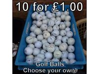 Golf Balls - 10 for £1.00 - Choose your own!