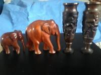 African vases and elephants