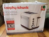 MORPHY RICHARDS 222004 ACCENTS TOASTER 2 SLICE - SAND