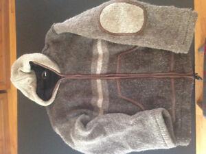 Manteau laine large