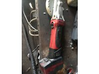 Snap on cordless grinder
