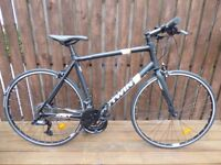 2015 B'TWIN Triban 500 FB Road Bike - Black/White/Orange