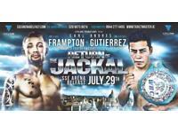 1 X Frampton v Gutierrez Ticket 29th July.