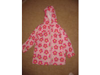 PINK MAC IN A BAG - age 5-6 IMMACULATE CONDITION - ideal for this weather - NOW REDUCED only £4.50!