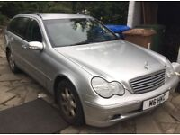 2002 Mercedes C180 Elegance estate, automatic, low miles, personalised reg