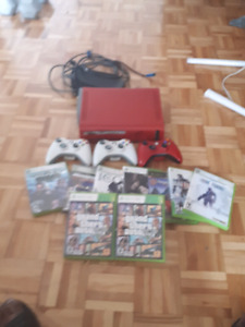 xbox 360 10 games 3 controllers one o  the device nba 2k16