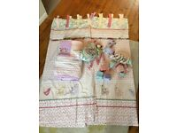 Girls nursery bedding set