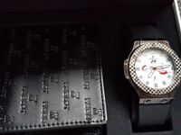 Gents Watch & Wallet Set (Designer)