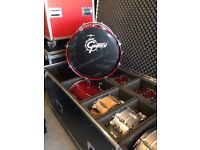 Gretsch new classic maple drums in rosewood red lacquer finish