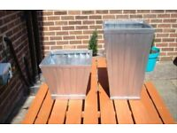 Tapered strip planters not plastic