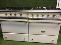 Stunning lacanche chalonnais range cooker large oven cream and brass