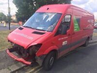 2009 MERCEDES SPRINTER 311 LWB. 1 OWNER FROM NEW. COMPLETE FULL SERVICE. NEEDS REPAIR. NO VAT
