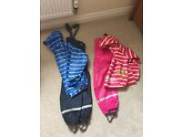 KIDS WATERPROOF OUTFITS - HEIGHT 120(PINK), 130(BLUE)