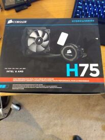Corsair H75 120mm CPU cooler with AM4 mounting