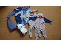 6 baby sleepsuits in great condition, from smoke and pet free house