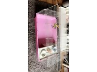 Small animal cage, stand and accesories