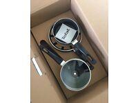 Brand New Tefal 5 piece Non-stick Pan Set - graphite grey