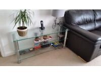 Glass side table ( or tv stand)