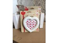 Small wooden heart photo frame