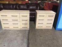 1 large beech chest of draws 1 medium size drawers both matching in excellent condition