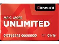 Cinema ticket limitless 1 year cineworld