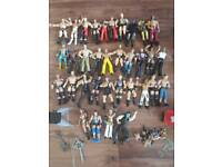 WWE figures, ring and accessories