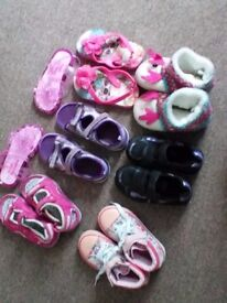 Bundle of 7 pairs of Girls shoes in size 7 and 8