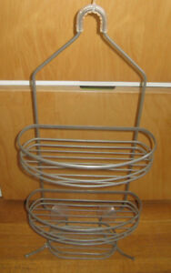 Greyish Metal Shower Shampoo Caddy